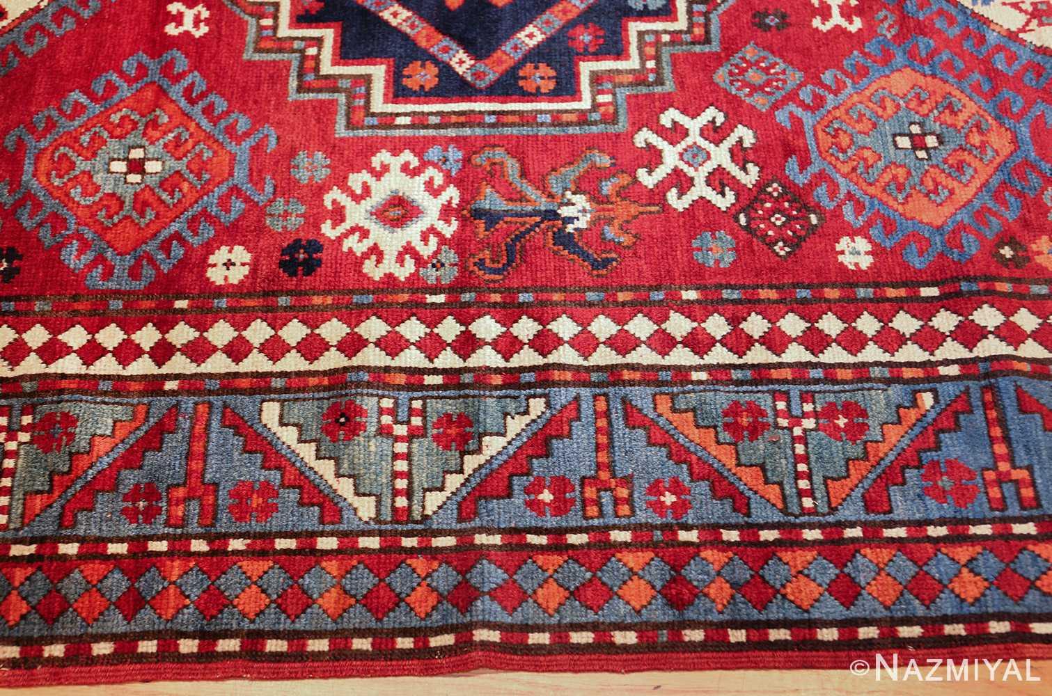 antique lori pemback design kazak caucasian rug 49509 border Nazmiyal