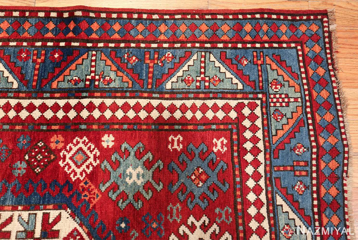antique lori pemback design kazak caucasian rug 49509 corner Nazmiyal