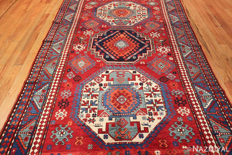 antique lori pemback design kazak caucasian rug 49509 field Nazmiyal