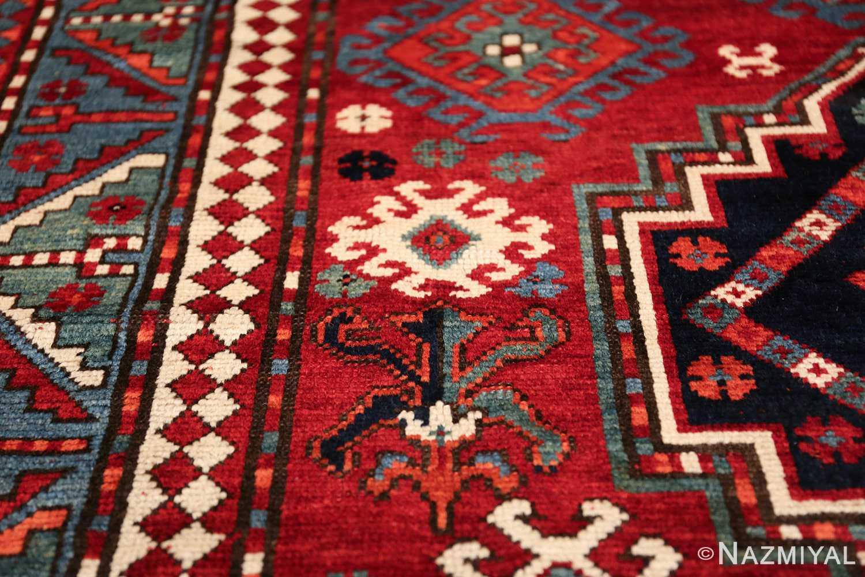 antique lori pemback design kazak caucasian rug 49509 flower Nazmiyal