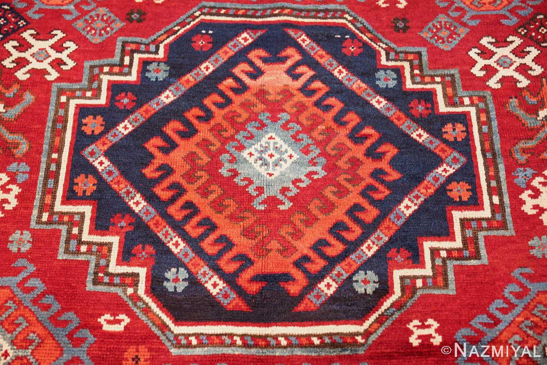 antique lori pemback design kazak caucasian rug 49509 medallion Nazmiyal