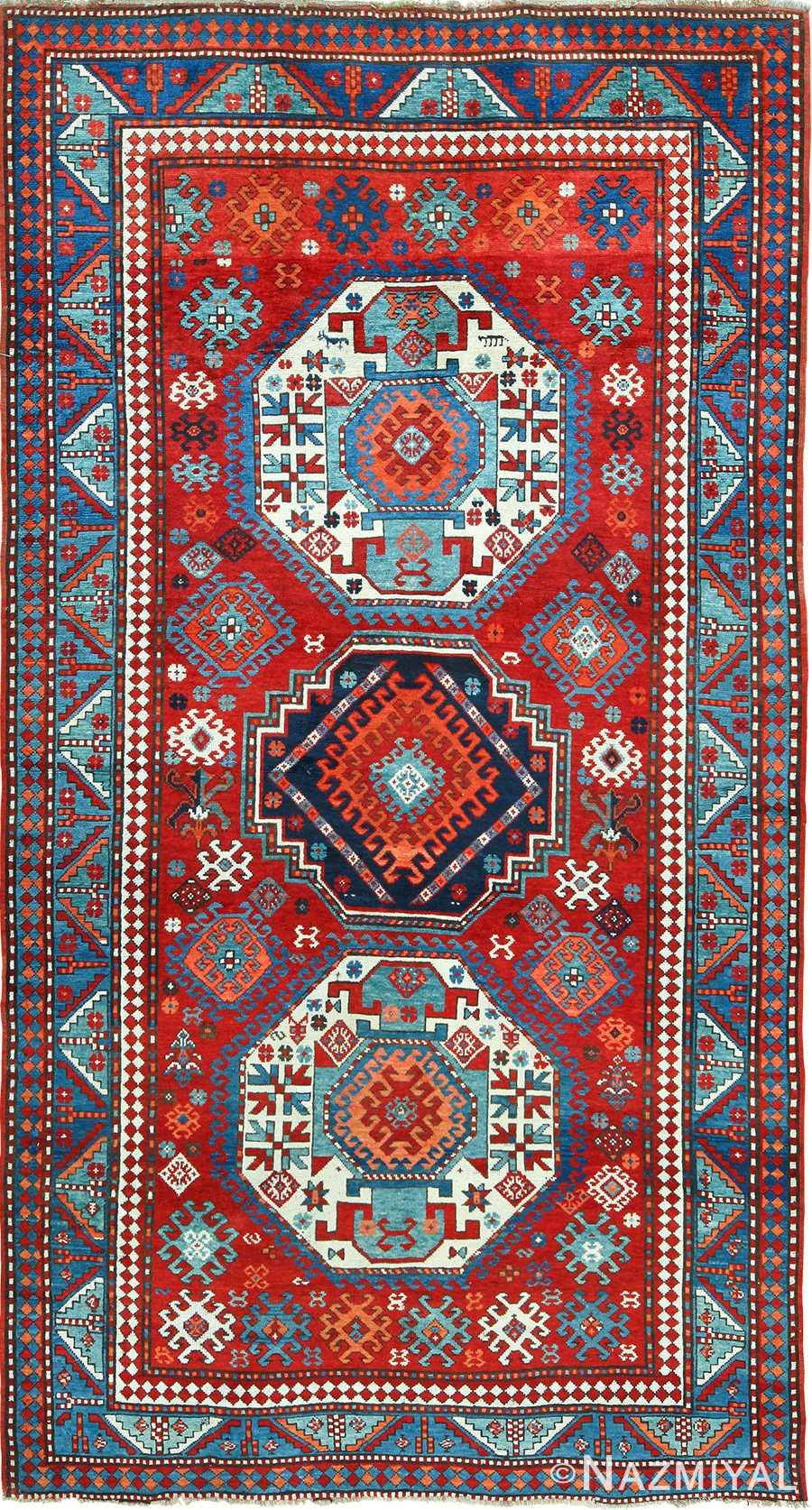 Antique Caucasian Kazak Rug 49509 Nazmiyal