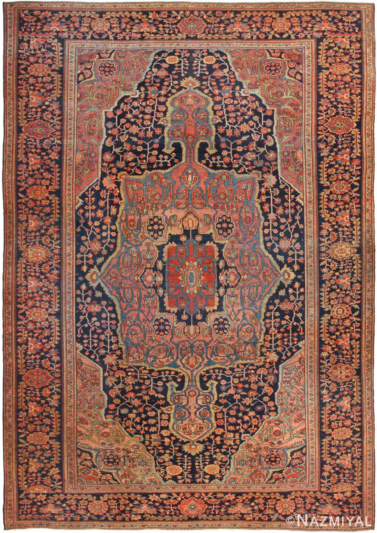 Antique Persian Sarouk Farahan Rug 49473 Nazmiyal