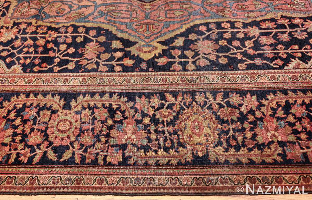 antique navy background farahan sarouk persian rug 49473 border Nazmiyal