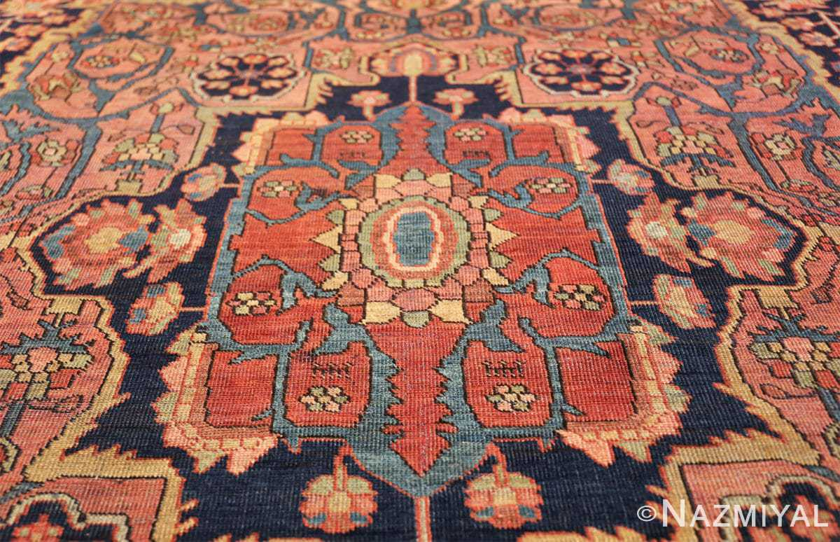 antique navy background farahan sarouk persian rug 49473 center Nazmiyal