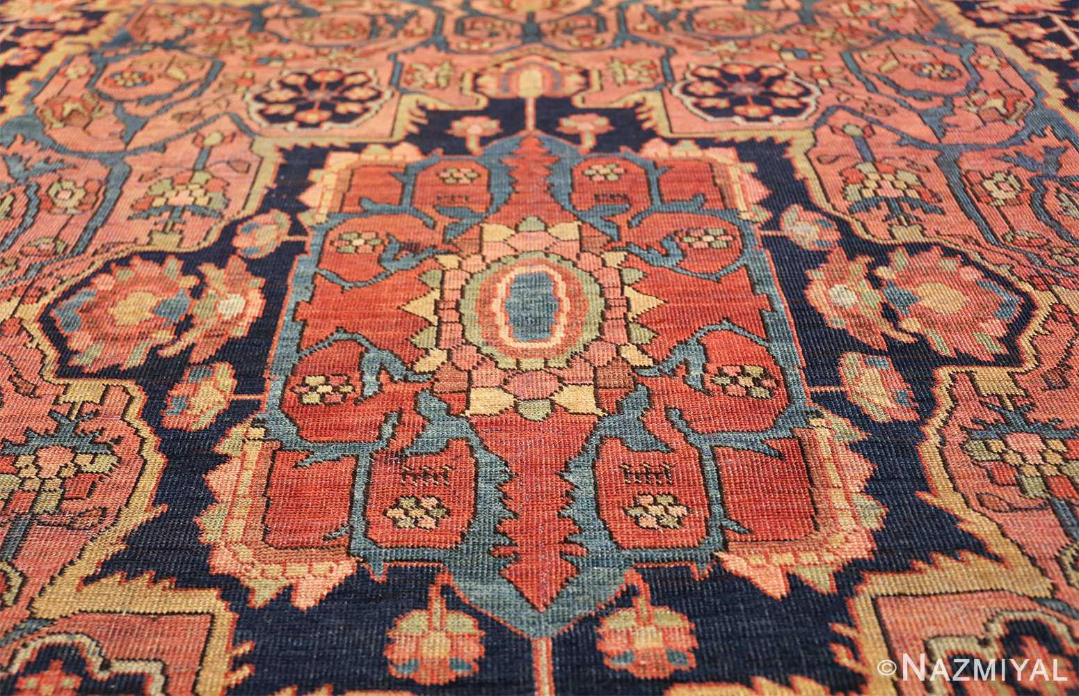 antique navy background farahan sarouk persian rug 49473 center Nazmiyal