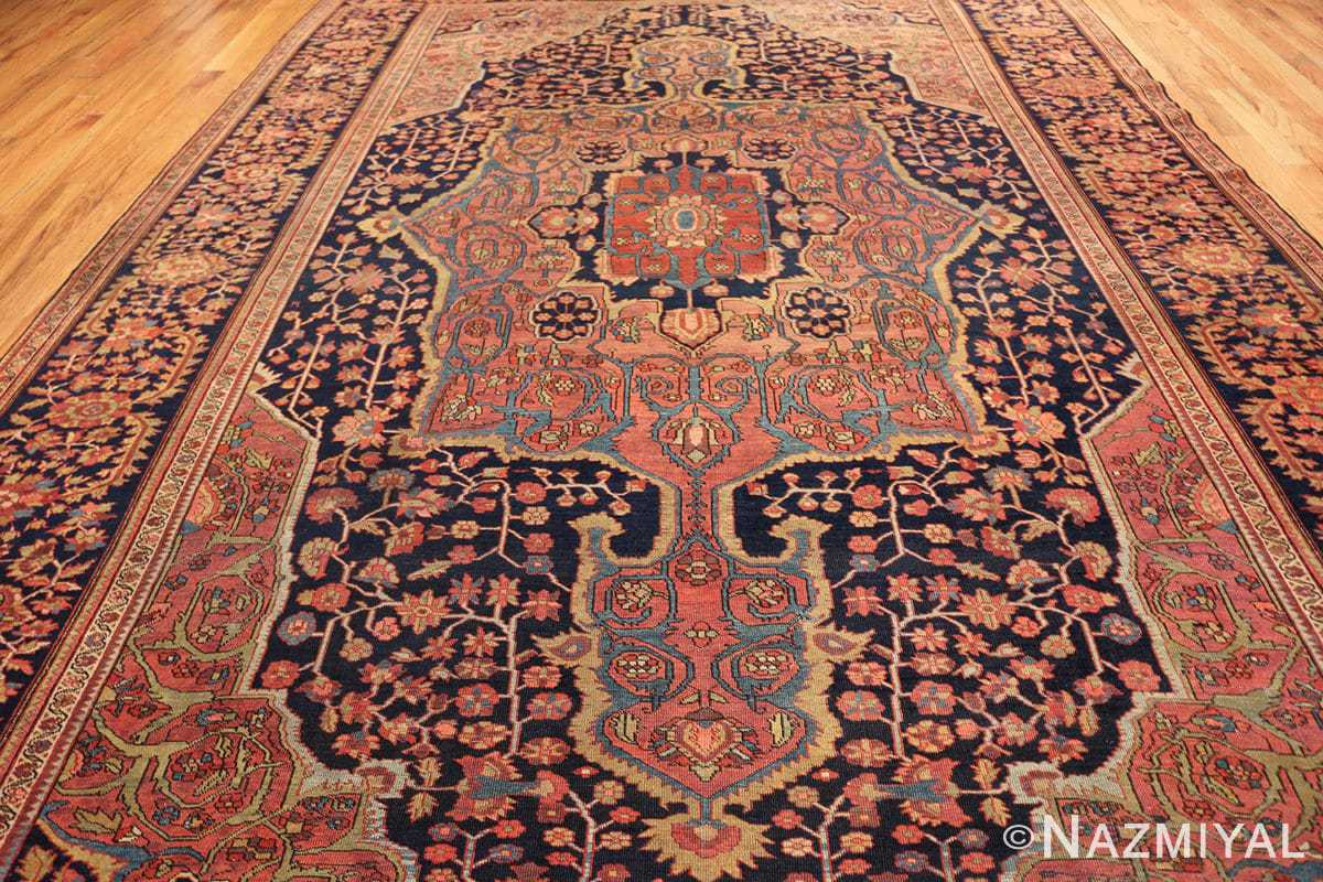 antique navy background farahan sarouk persian rug 49473 field Nazmiyal