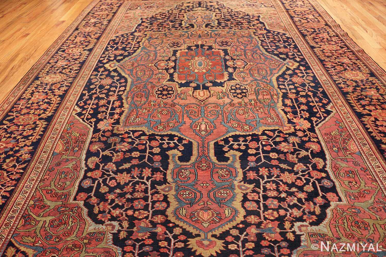 antique navy background farahan sarouk persian rug 49473 field Nazmiyal