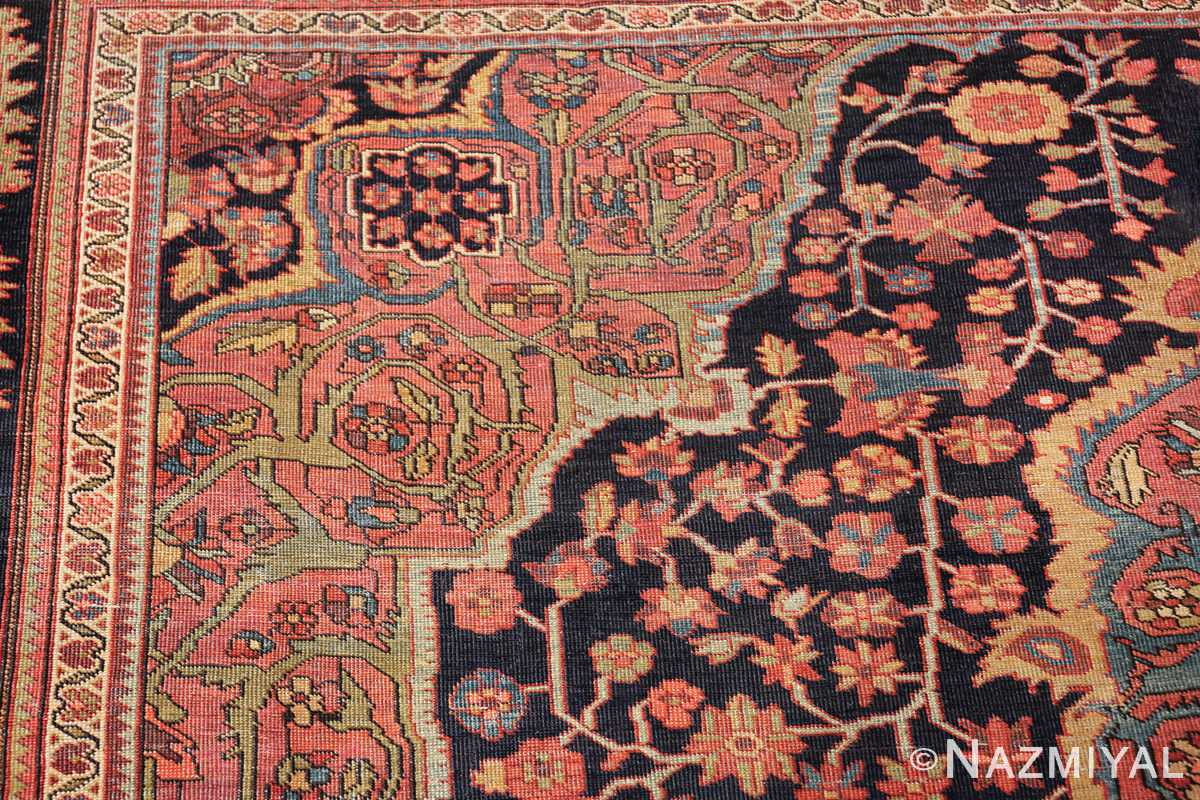 antique navy background farahan sarouk persian rug 49473 flowers Nazmiyal