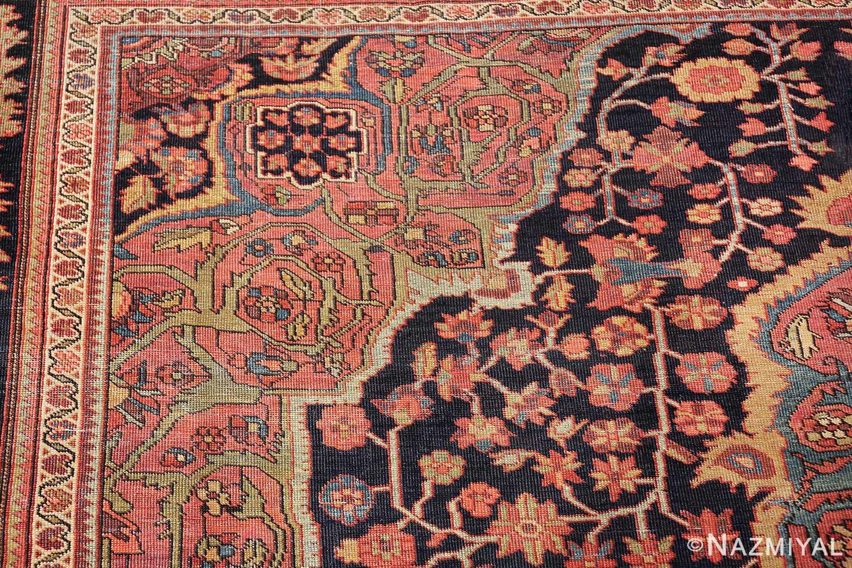antique navy background farahan sarouk persian rug 49473 flowers Nazmiyal