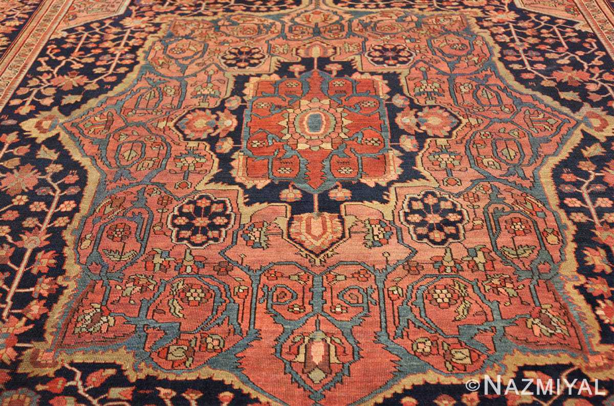 antique navy background farahan sarouk persian rug 49473 medallion Nazmiyal