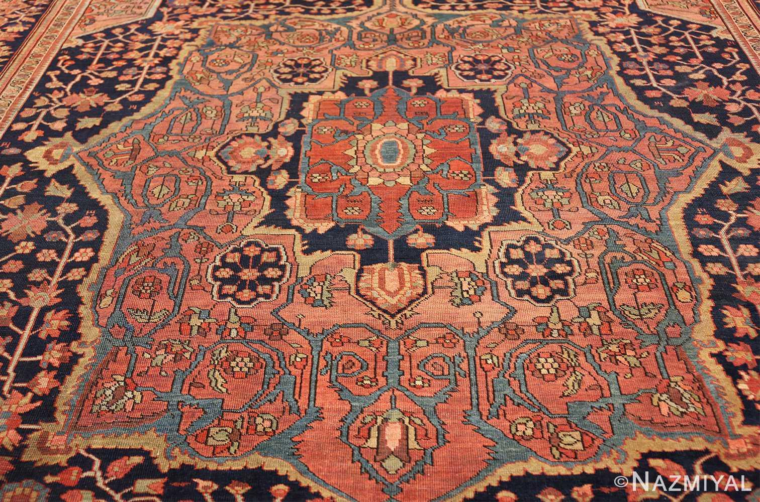 antique navy background farahan sarouk persian rug 49473 medallion Nazmiyal