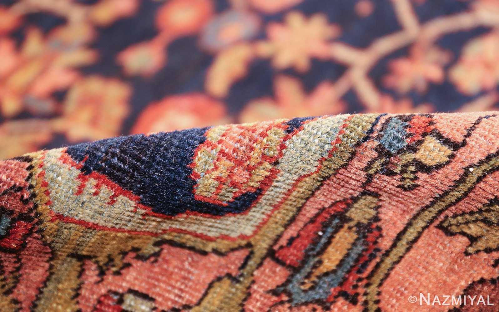 antique navy background farahan sarouk persian rug 49473 pile Nazmiyal