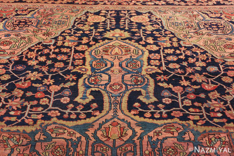 antique navy background farahan sarouk persian rug 49473 tiara Nazmiyal