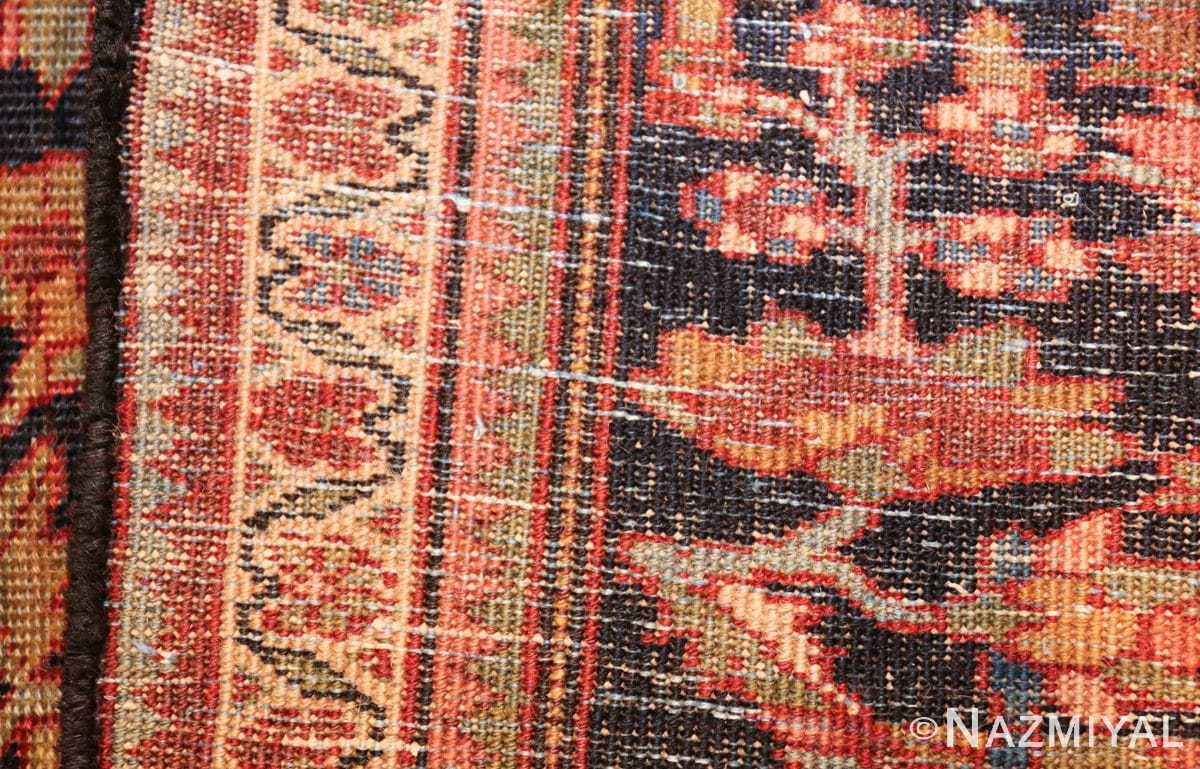 antique navy background farahan sarouk persian rug 49473 weave Nazmiyal