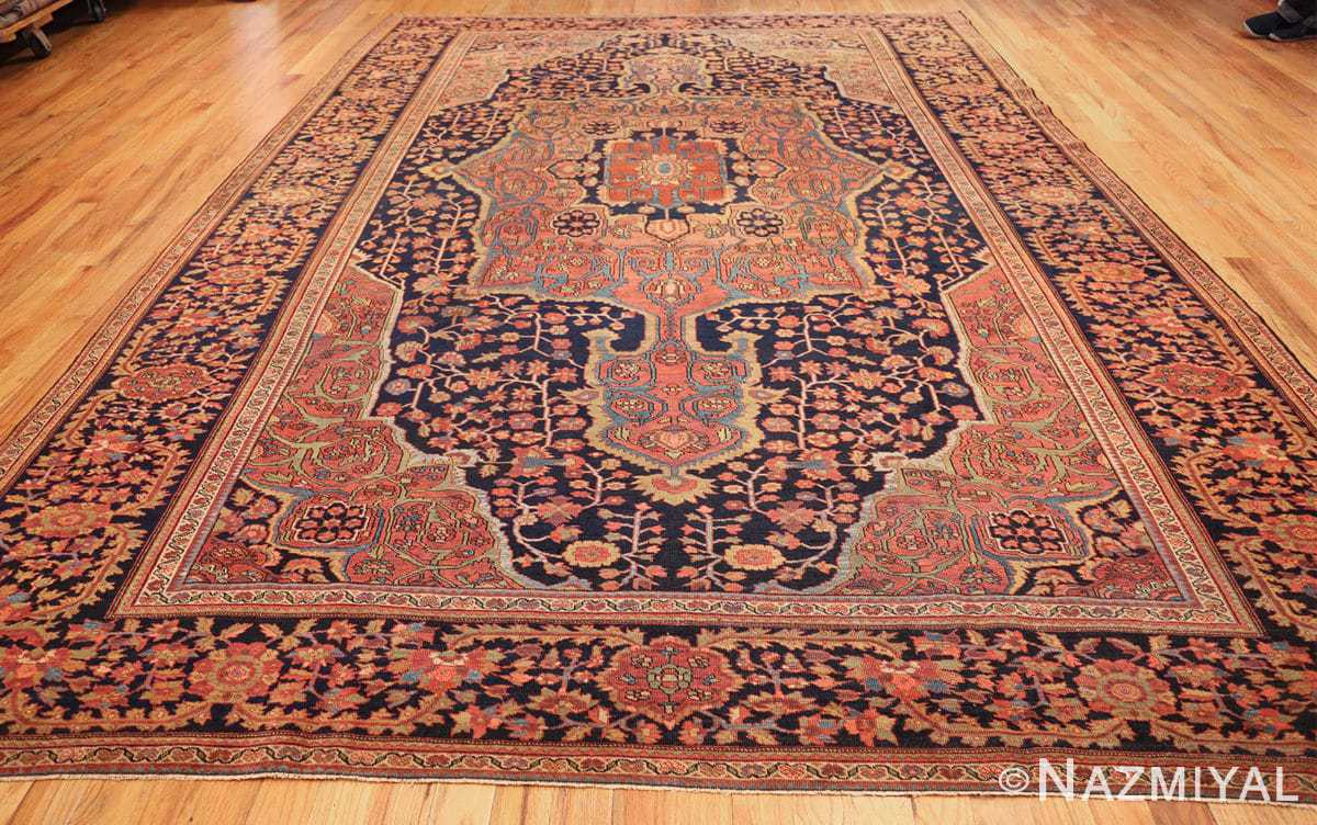 antique navy background farahan sarouk persian rug 49473 whole Nazmiyal