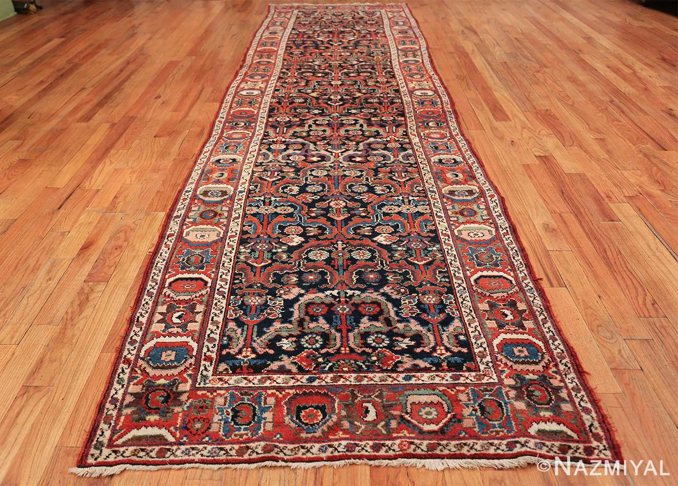 Jewel Tone Tribal Antique Persian Bakhtiari Runner Rug 49555