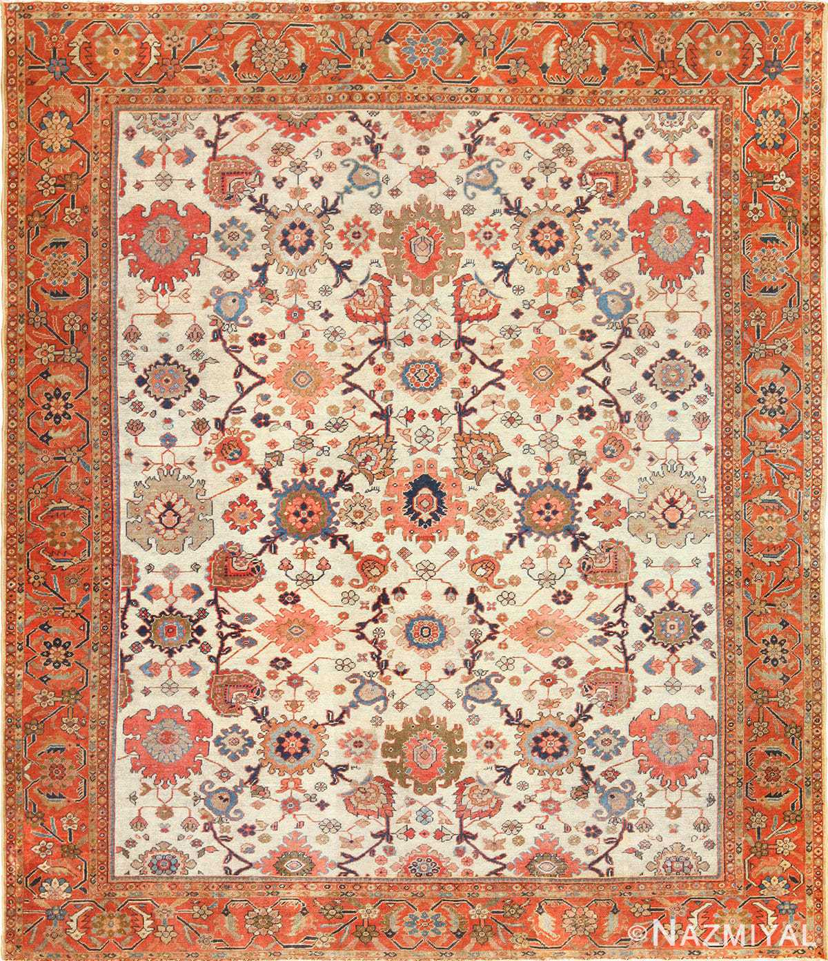 Antique Persian Sultanabad Rug 49467 Nazmiyal