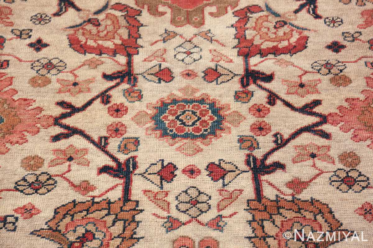 ivory background antique sultanabad persian rug 49467 blue Nazmiyal