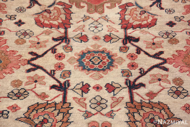 ivory background antique sultanabad persian rug 49467 blue Nazmiyal