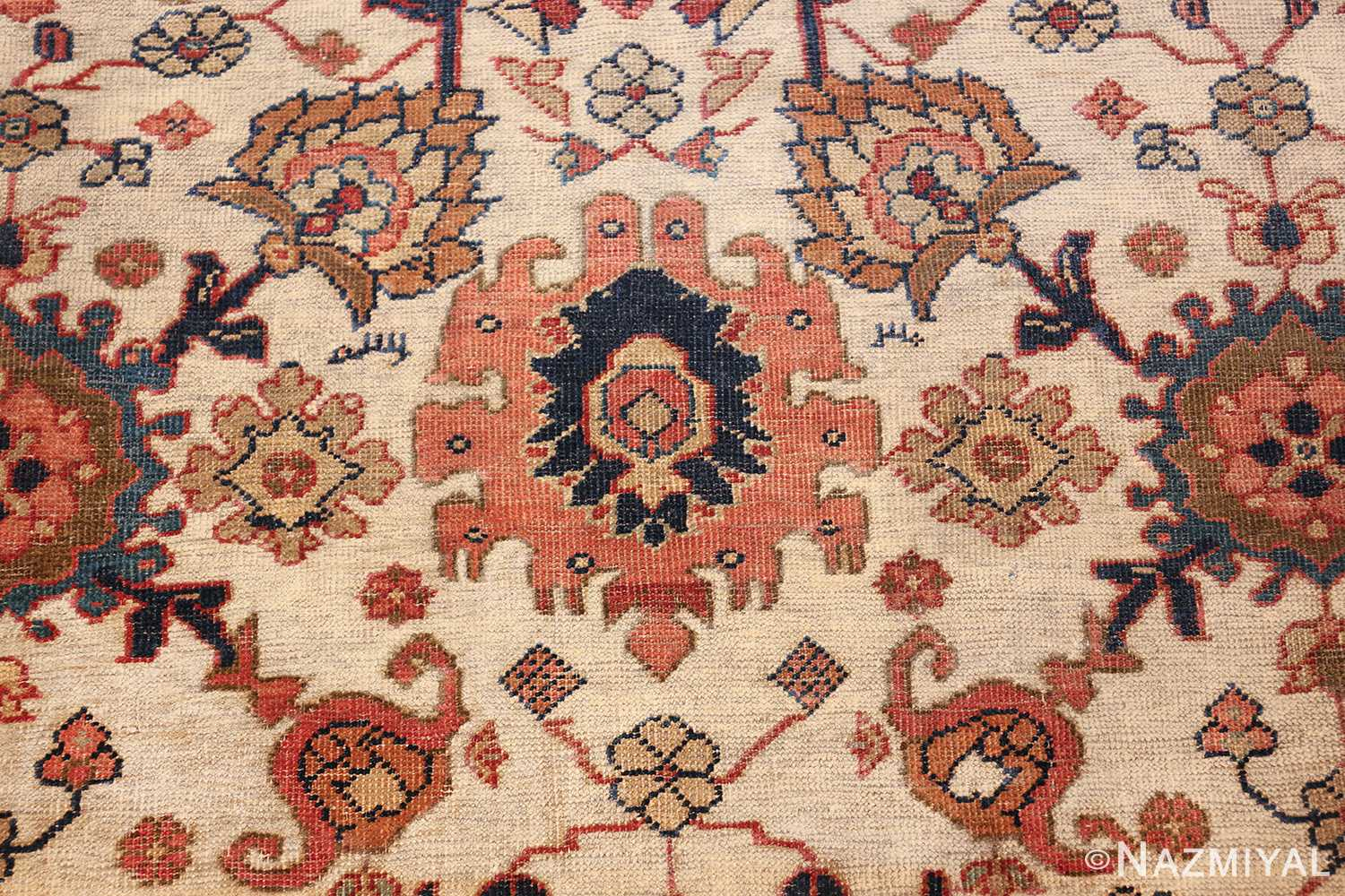 ivory background antique sultanabad persian rug 49467 board Nazmiyal