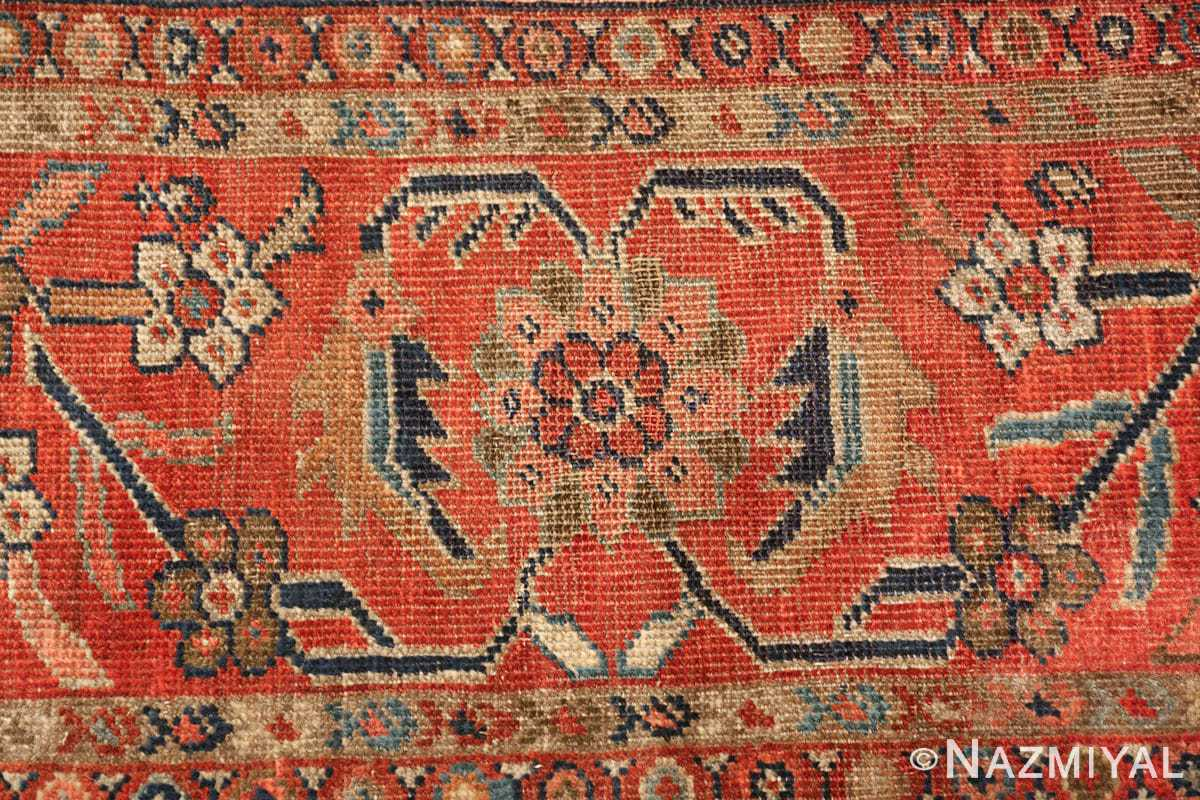 ivory background antique sultanabad persian rug 49467 border Nazmiyal