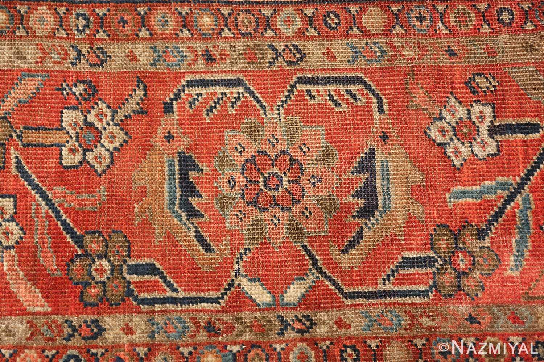 ivory background antique sultanabad persian rug 49467 border Nazmiyal