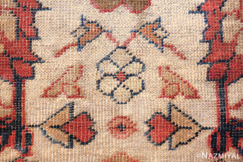 ivory background antique sultanabad persian rug 49467 ivory Nazmiyal