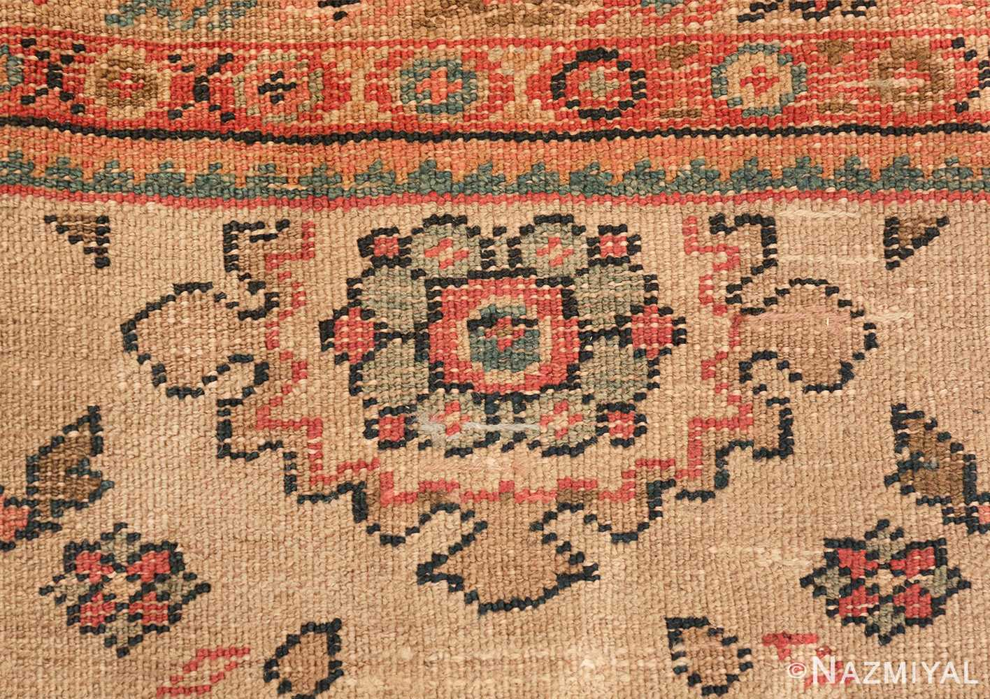 ivory background antique sultanabad persian rug 49467 knots Nazmiyal