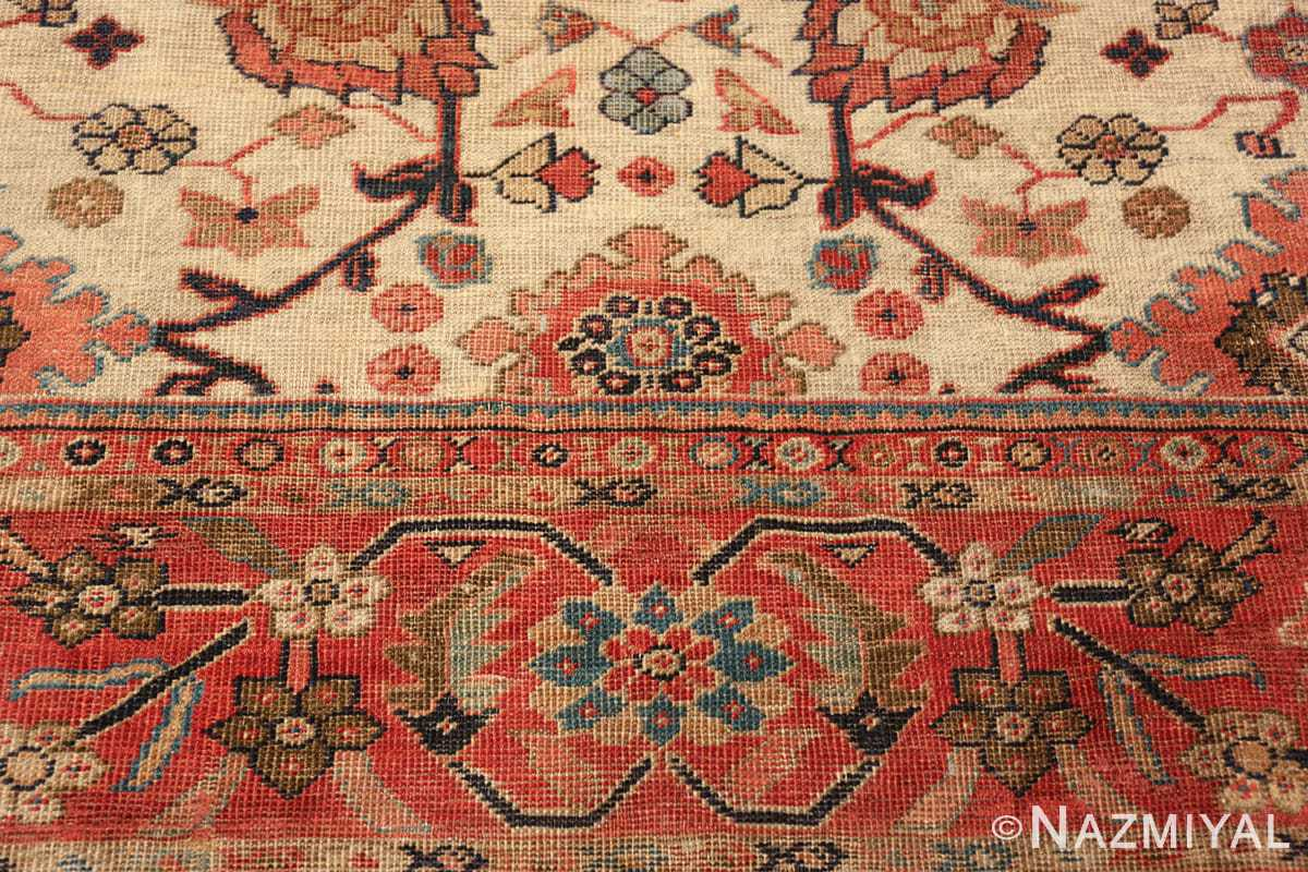 ivory background antique sultanabad persian rug 49467 top Nazmiyal