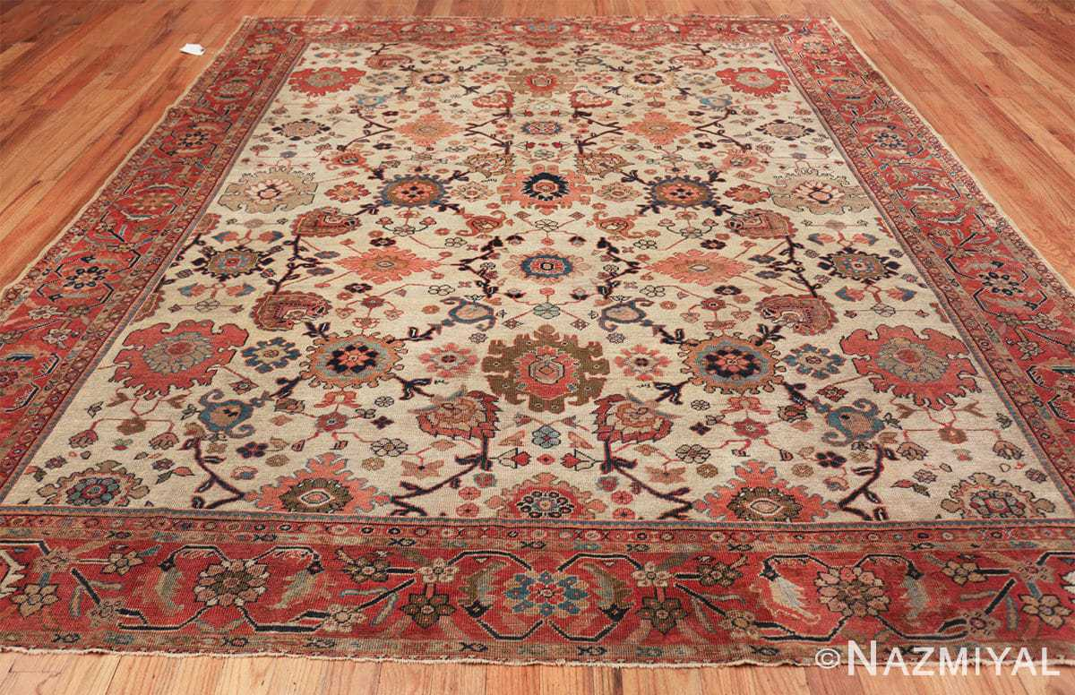 ivory background antique sultanabad persian rug 49467 whole Nazmiyal
