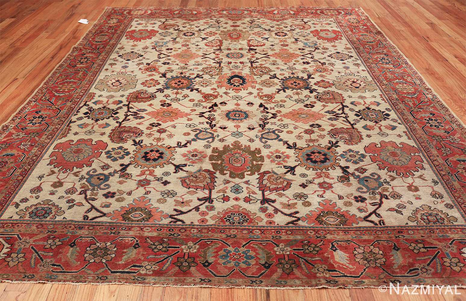 ivory background antique sultanabad persian rug 49467 whole Nazmiyal