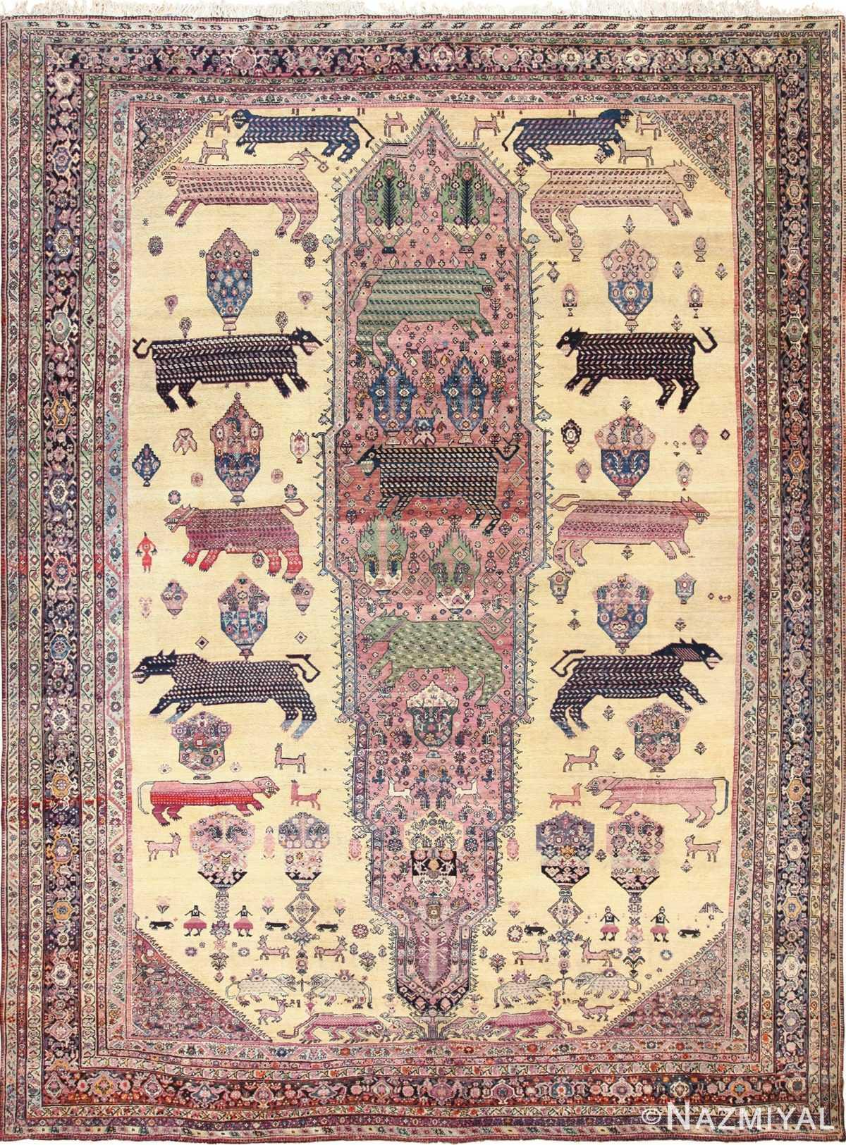Antique Persian Farahan Rug 49516 Nazmiyal