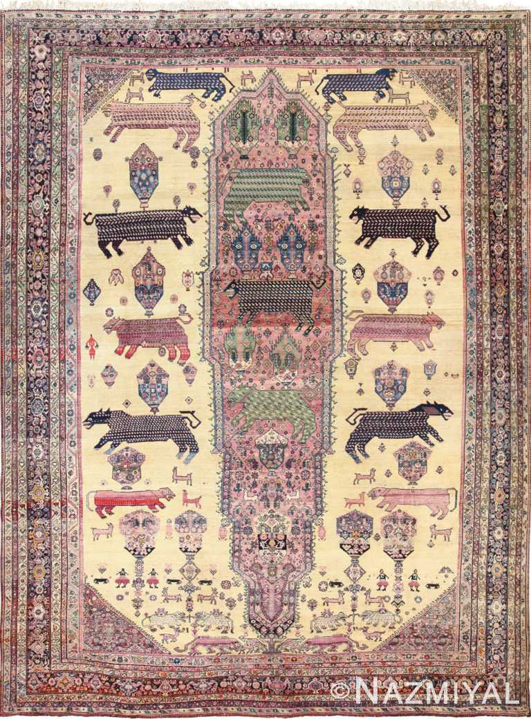 Antique Persian Farahan Rug 49516 Nazmiyal