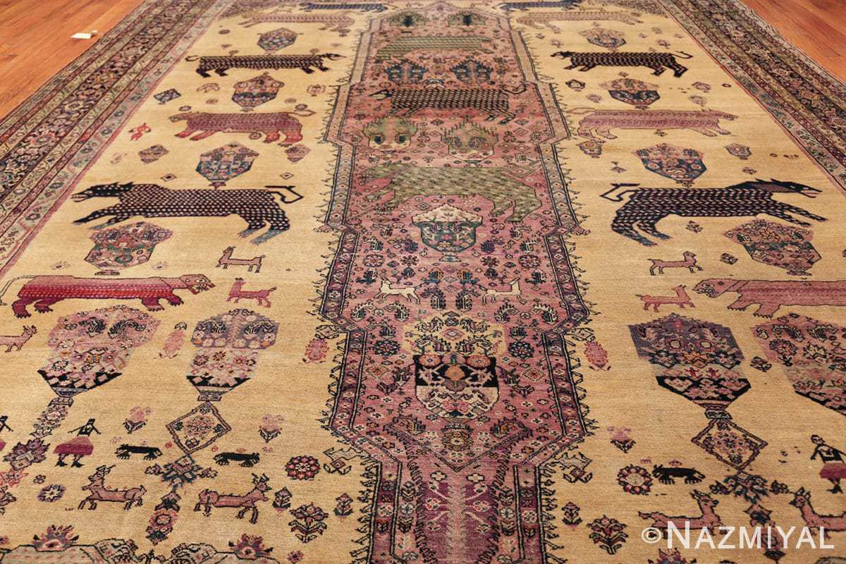 large animal motif antique farahan persian rug 49516 all Nazmiyal
