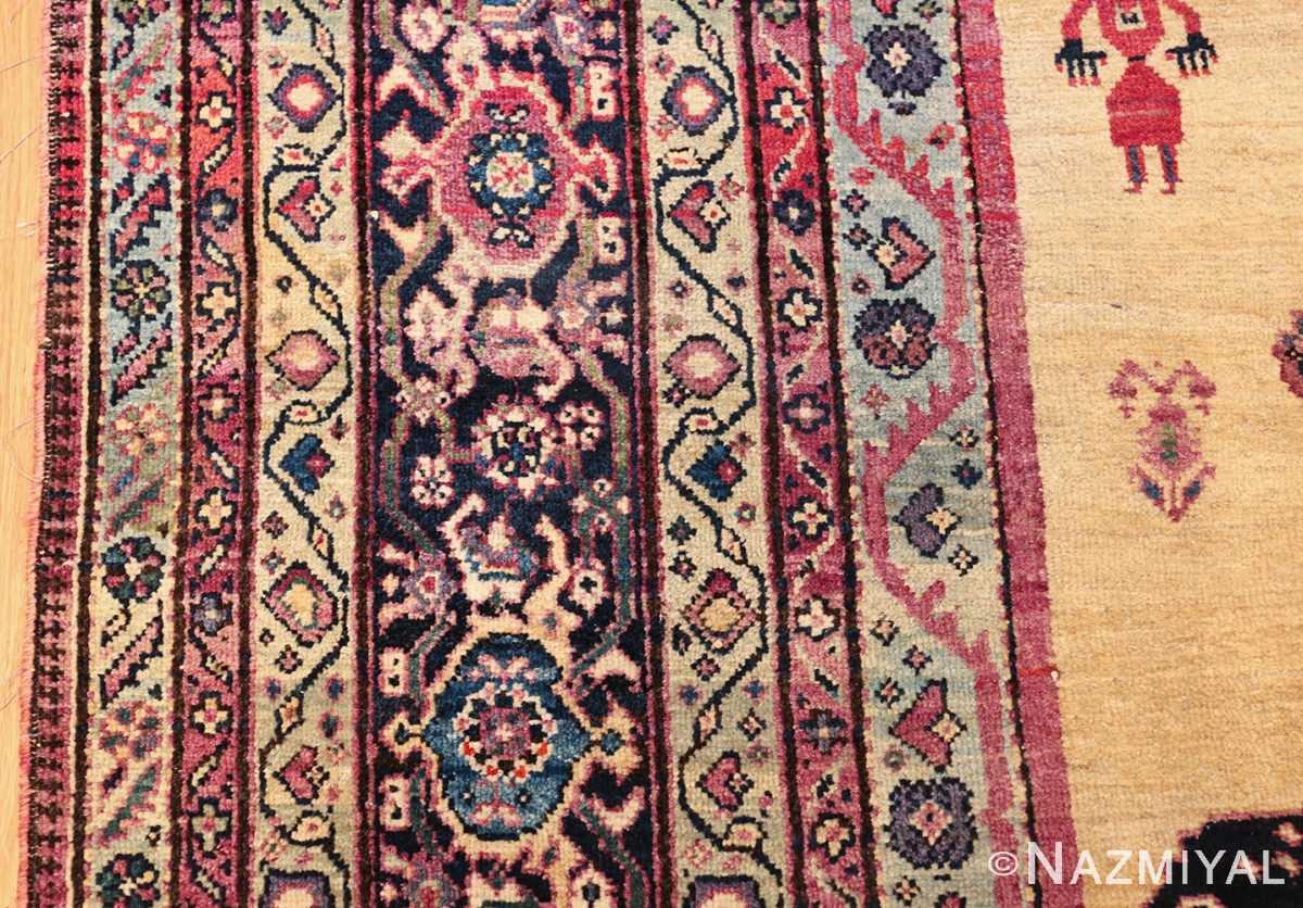 large animal motif antique farahan persian rug 49516 border Nazmiyal