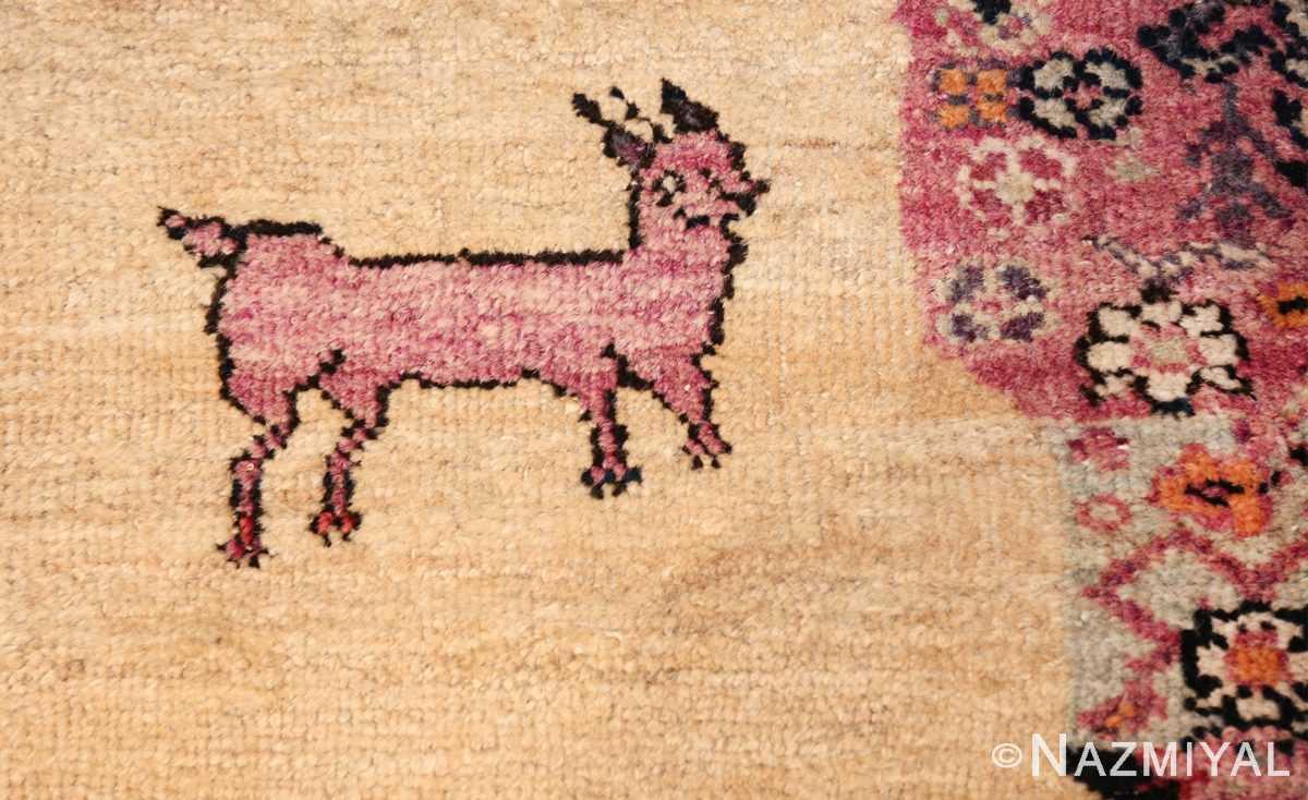 large animal motif antique farahan persian rug 49516 deer Nazmiyal