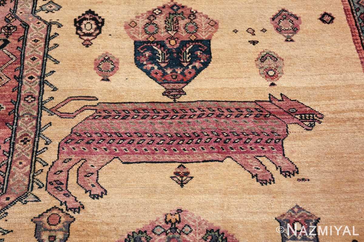 large animal motif antique farahan persian rug 49516 fat Nazmiyal