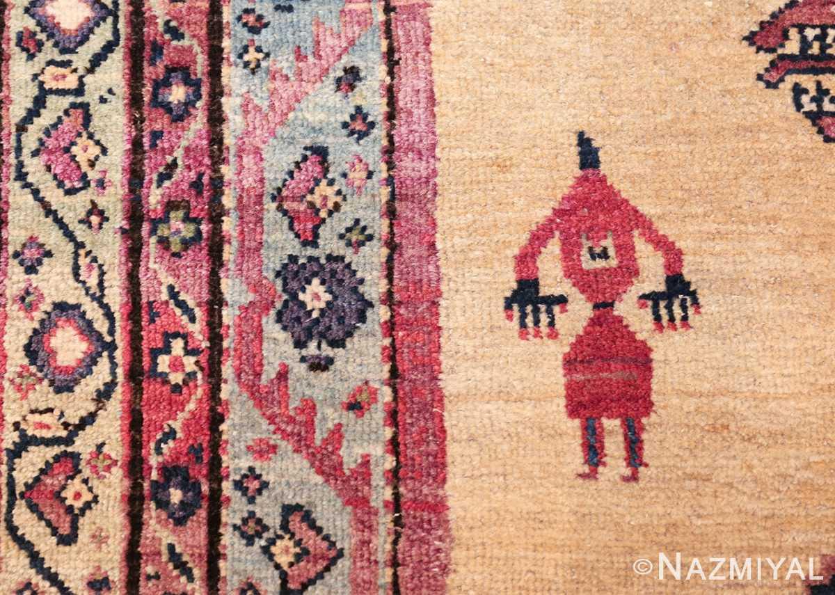 large animal motif antique farahan persian rug 49516 human Nazmiyal