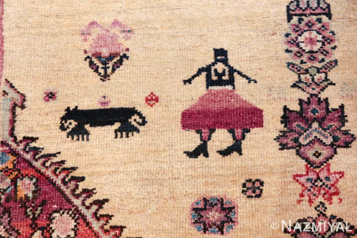 large animal motif antique farahan persian rug 49516 lady Nazmiyal