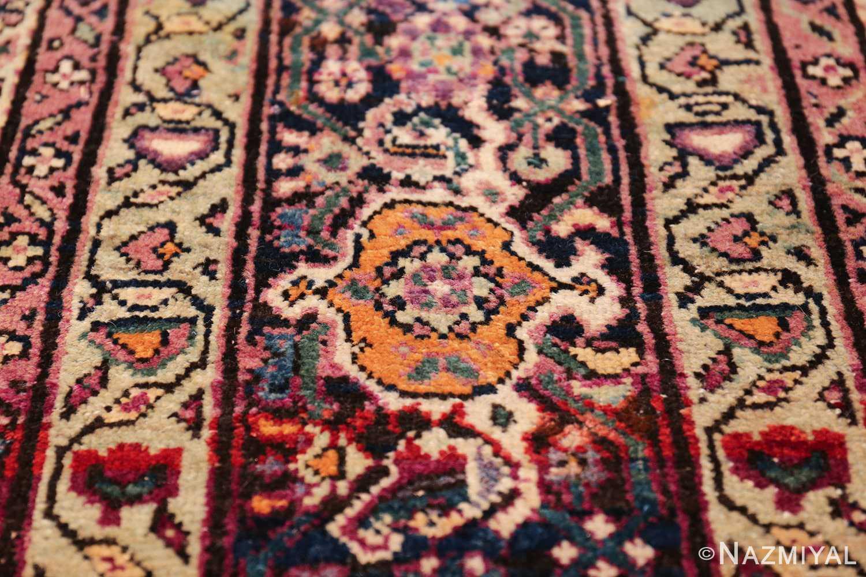 large animal motif antique farahan persian rug 49516 orange Nazmiyal