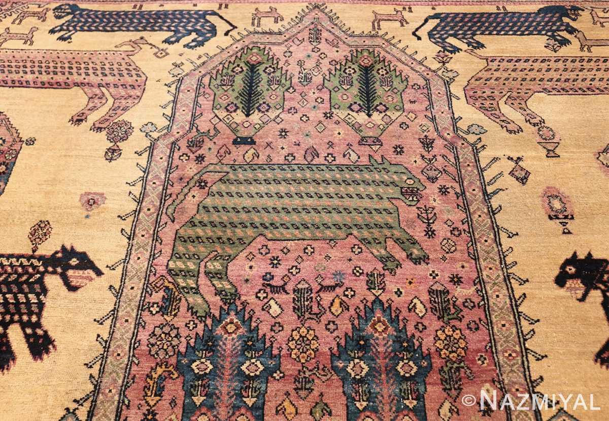 large animal motif antique farahan persian rug 49516 pattern Nazmiyal