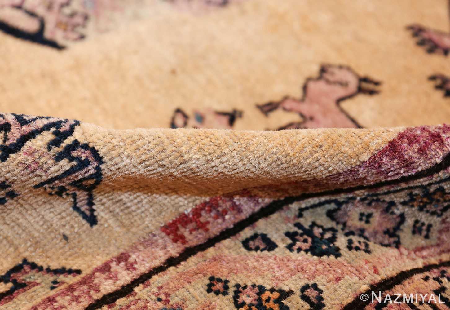large animal motif antique farahan persian rug 49516 pile Nazmiyal