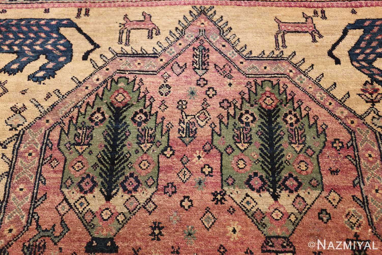 large animal motif antique farahan persian rug 49516 plants Nazmiyal