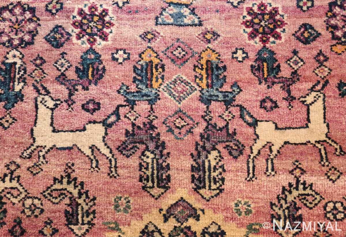 large animal motif antique farahan persian rug 49516 squirrels Nazmiyal