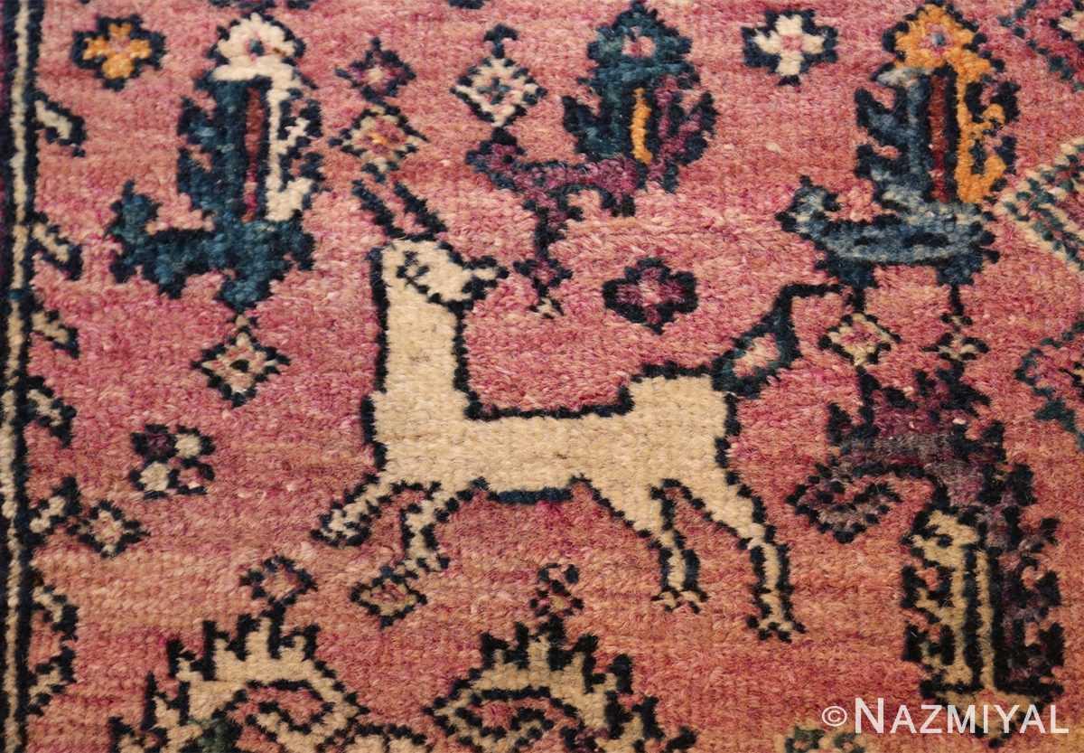 large animal motif antique farahan persian rug 49516 trios Nazmiyal