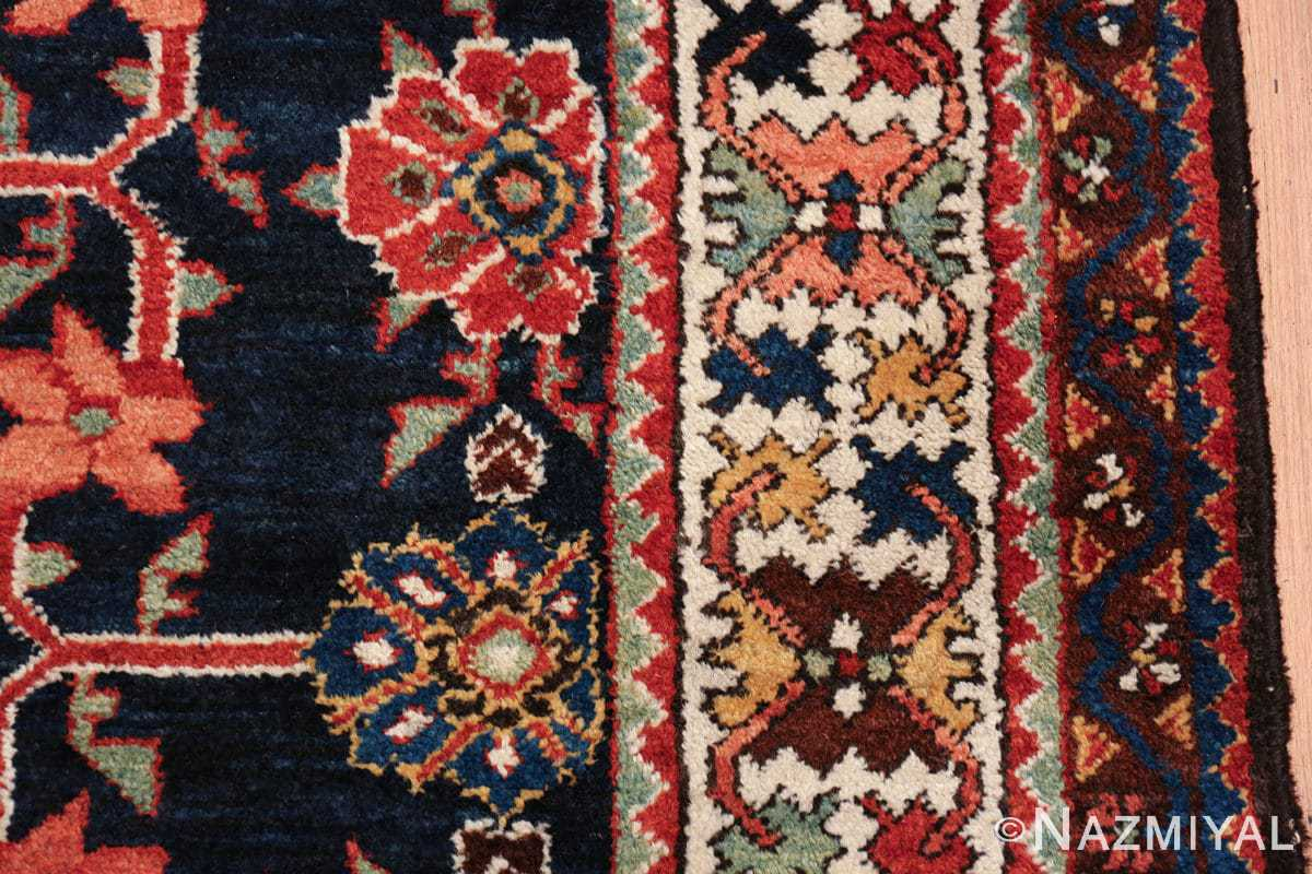 navy antique malayer persian rug 49554 border Nazmiyal