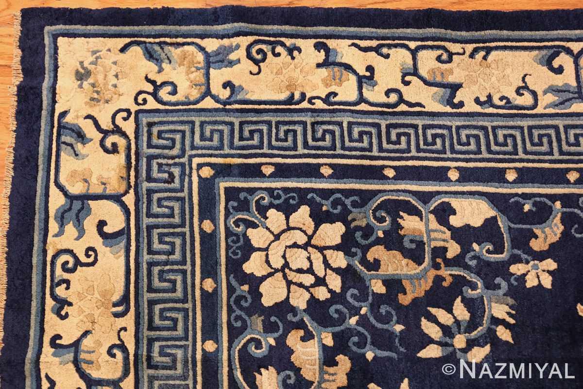 room size navy background antique chinese rug 49474 blue corner Nazmiyal