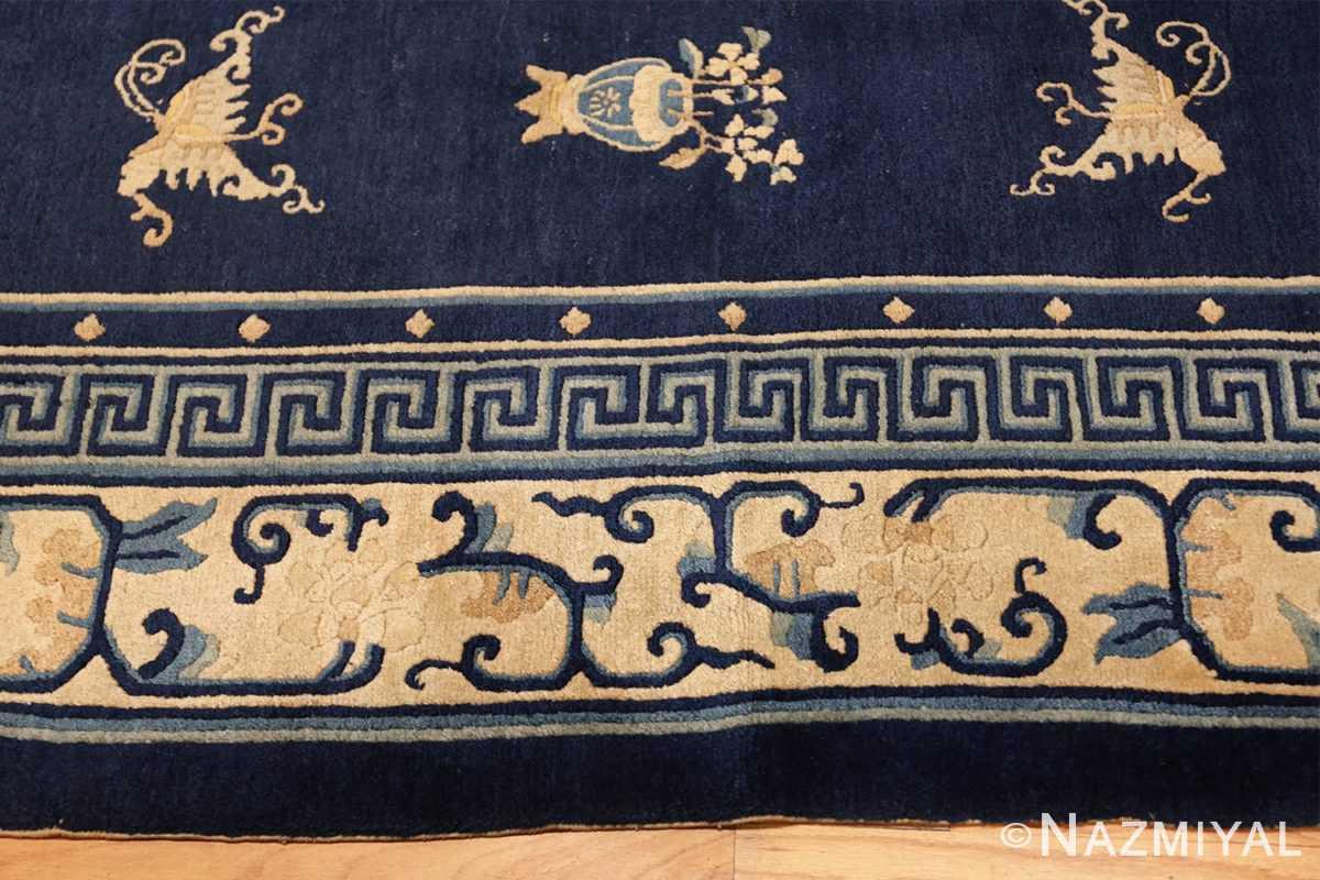room size navy background antique chinese rug 49474 border Nazmiyal