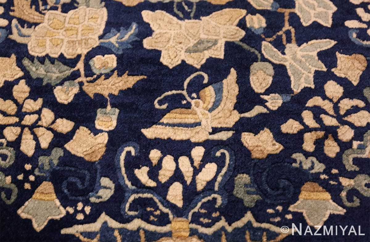 room size navy background antique chinese rug 49474 butterfly Nazmiyal